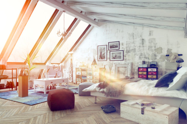 Attic conversion image by PlusONE (via Shutterstock).