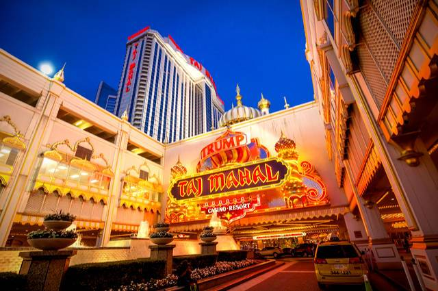 Trump Taj Mahal table image by F11Photo (via Shutterstock).