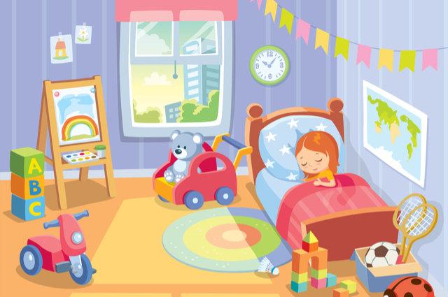 Child's bedroom illustration by Olga1818 (via Shutterstock).